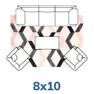 Well Woven geometric 8x10 8x11 rugs.