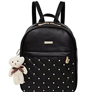 Teddy Keychain Stylish and Trending High Quality Women Backpack