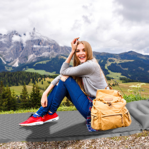 fruiteam sleeping pad double camping pad camping mat for 2 persons traveling hiking picnic backpack
