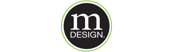mDesign Metro Decor InterDesign Slogan Logo Solutions with Style More Calm Less Clutter Decorative