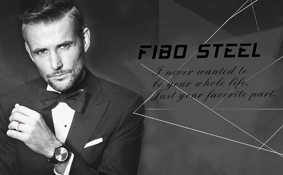 fibo steel men rings
