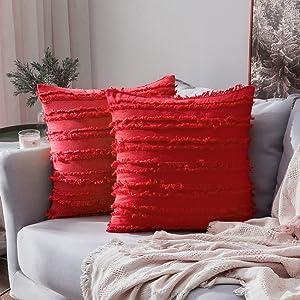 home decor pillow covers cushion warm 12x20 inch boho cream white