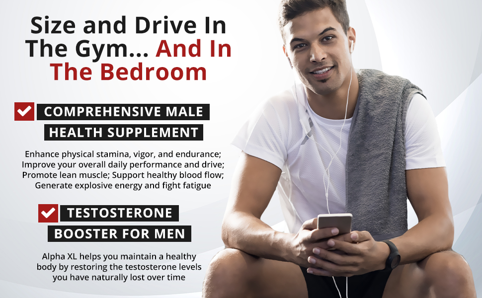 Male Supplement Pills Low T Testosterone Booster Natural Clinically Proven Performance Booster Men