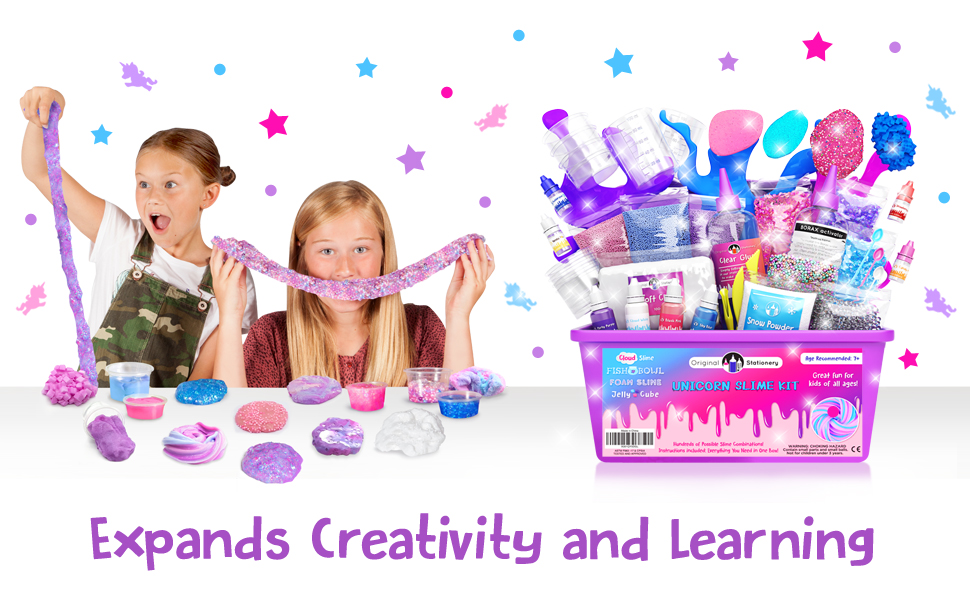 unicorn slime kits, arts & crafts for girls ages 7-10