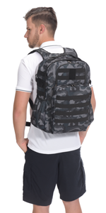 Black Camo Military Backpack