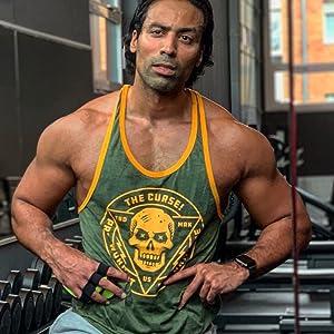 muscular man in tank top
