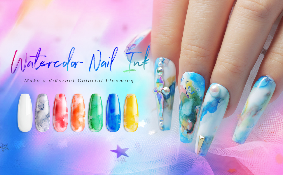 water nail ink