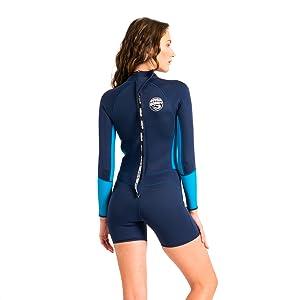 Scubadonkey 1.5 mm Neoprene Women/'s Shorty Wetsuit
