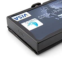 durevole portafoglio portamonete uomo piccolo sottile portafoglio nero rfid protection portafoglio
