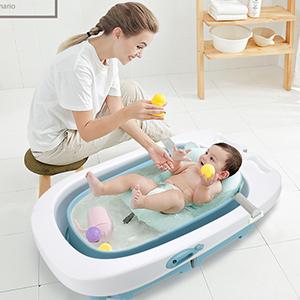 Badewannensitz Mit Schutzmatte Baby Badewannensitz Babywanne Klappbar Tochterlinge Und Kleinkinder Caste Badewannenst/ütze Neugeborene Badewanne F/ür Neugeborene