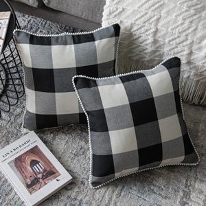black buffalo pillow