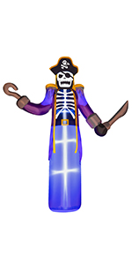 Inflatable Pirate Skeleton