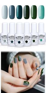 gel polish green