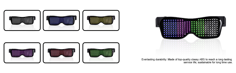 Customizable Bluetooth LED Glasses Grow Party Favor
