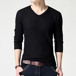綿 Vネック  サマー ニット  セーター シンプル デザイン カジュアル 春 夏 メンズ