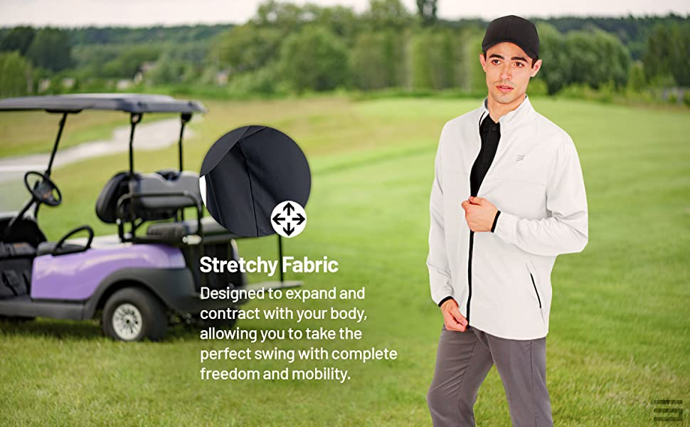 Stretch fabric so you can easily move and swing without restriction.