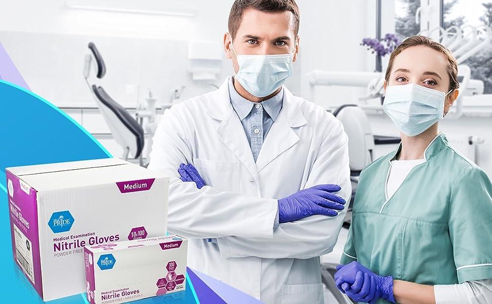 Medical Examination Powder-Free Nitrile Gloves