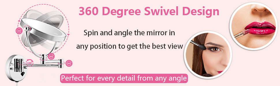 wall mounted makeup mirror with lights and magnification
