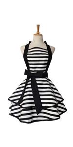 Black Stripe Apron