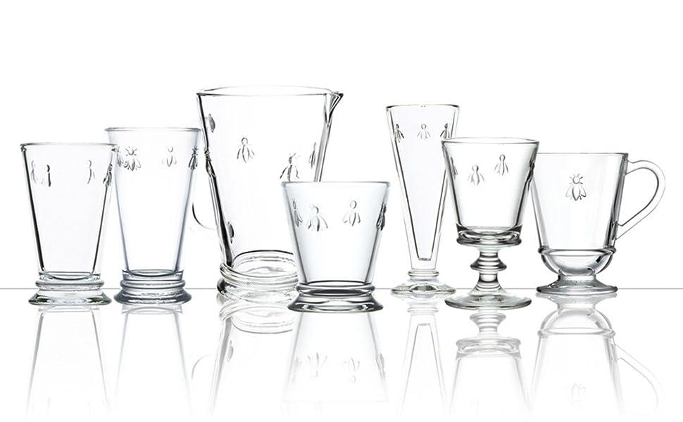 Amazon Com La Rochere Napoleon Bee Glasses Set Of 6 11 5 Oz Old Fashioned Glasses W The French Bee Embossed Design Fine French Glassware Drinking Glasses Heavy Water Glasses Dishwasher Safe