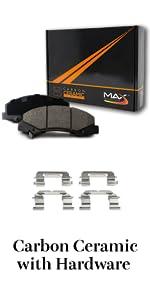 Carbon Ceramic Brake Pads with Hardware
