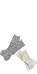 内絹外綿 2足履き