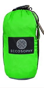 Green ECCOSOPHY Beach Blanket