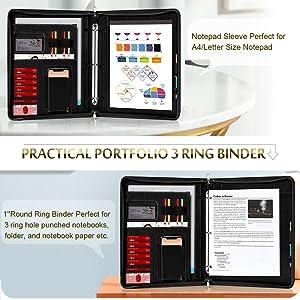 Portfolio Folder Binder 3 ring