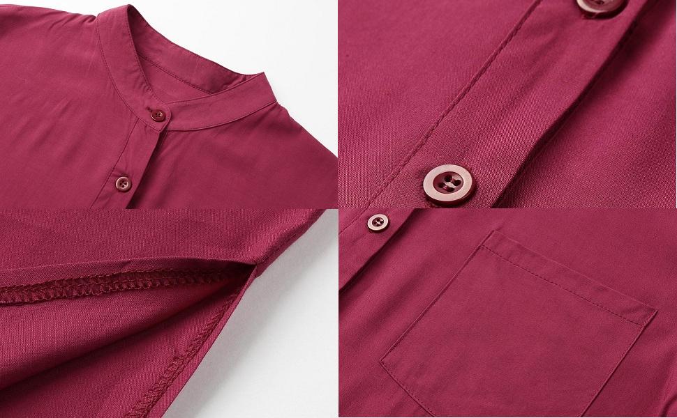 Women Shirt Dress Long Button-Down Shirts Blouse Dress Retro Casual Long Sleeve Maxi Loose Fit