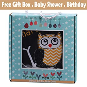 baby shower gift box toy book cloth book Christmas birthday gift soft book toy infant owl 03 6 month