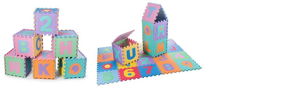 Tweepsy Baby sicurezza schiuma tappetino di giocoROUND soft hand-made