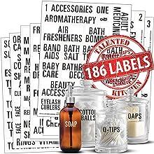 Bold All Caps Bathroom Labels