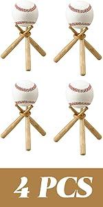 TIHOOD 4PCS Baseball Stand