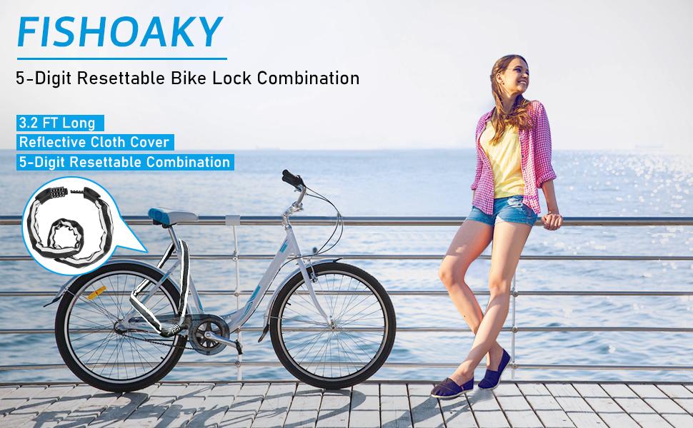 FISHOAKY Bike Chain Lock