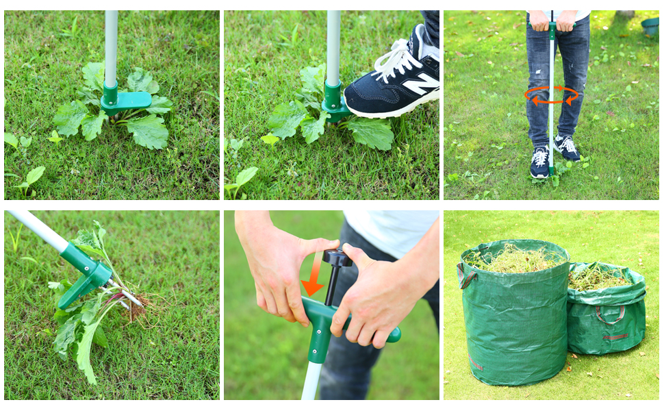 how to use ohuhu weeder Ruderal Remover Weed Puller