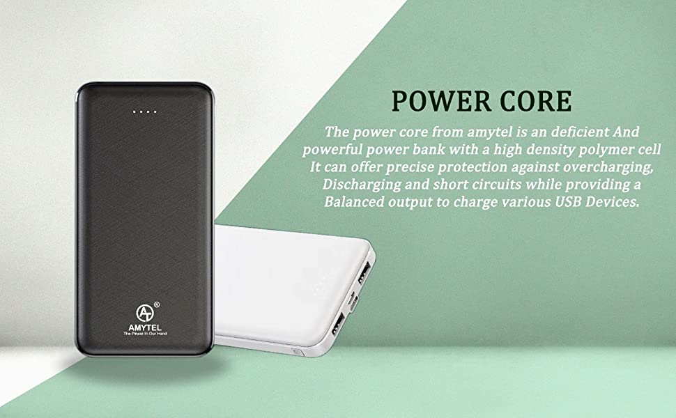 The power core from amytel is an deficient And powerful power bank with a high density polymer cell