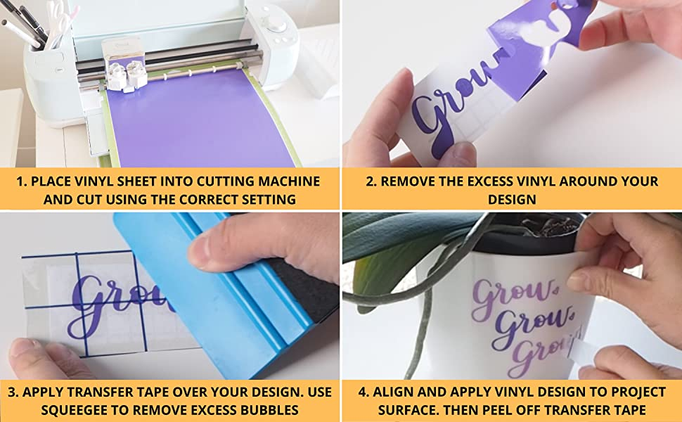 instructions on how to apply kassa permanent vinyl. four steps to create personalized home decor
