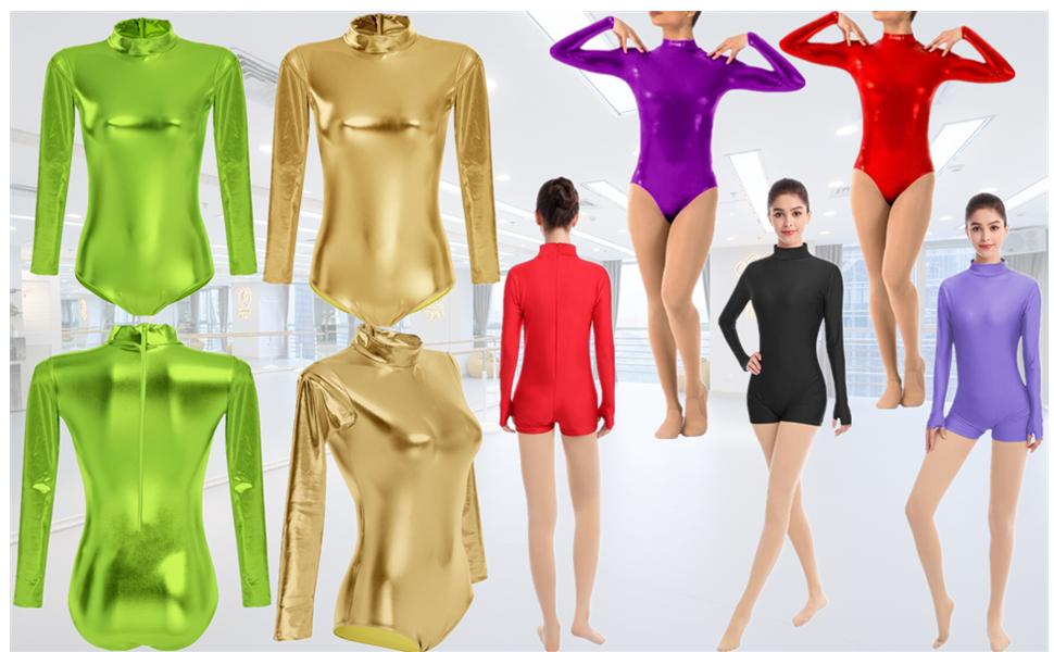 Sparkle Sleeveless Gymnastics Leotards for Women Adults Girls Ballet Dancwear Gymnastic leotards