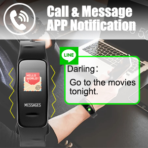 call notification;SMS notification fitness tracker ;app notification smart watch ;activity tracker