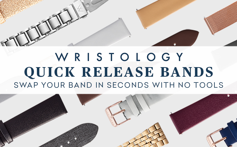 wristology replacement bands interchangeable leather stainless steel metal silicone suede