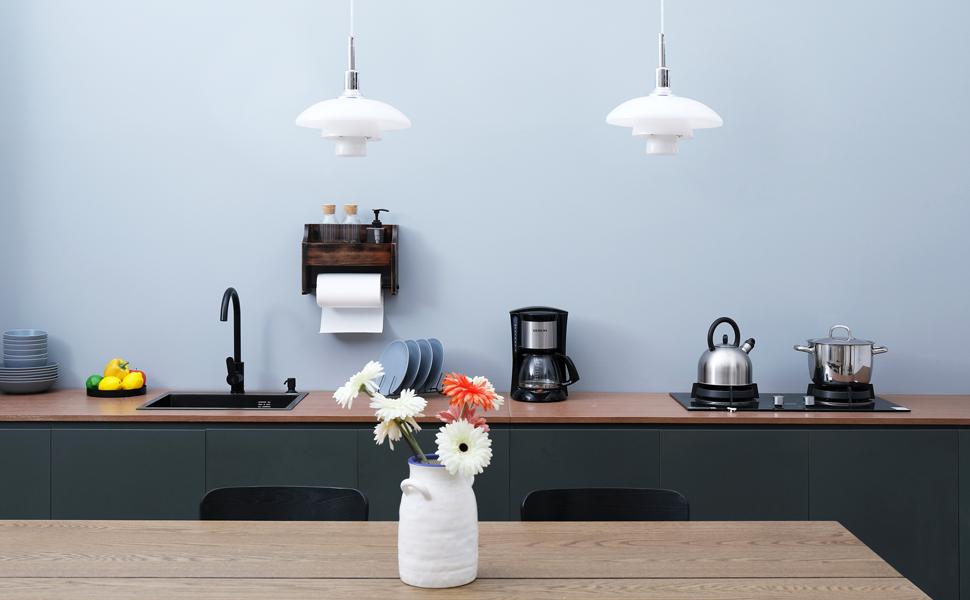 kitchen storage shelf and kitchen towel holder