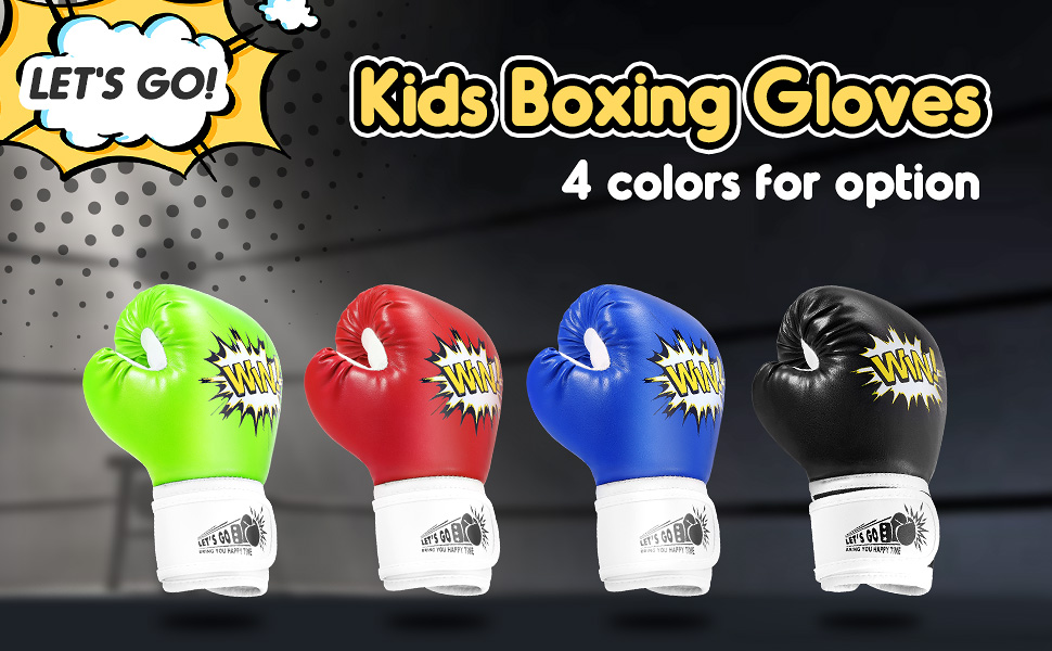 LETS GO Kids Boxing Gloves Toys for 5-12 Years Old Kids Training Gloves Best Gifts