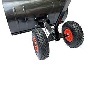 29 x 13 inches Wheeled Snow Shovel Pusher