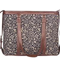 ikat wave office bag for women