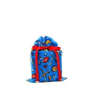 kids gift bag, sports gift bag, balls, child gift bag, birthday bag