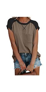 cap sleeve t shirt for women