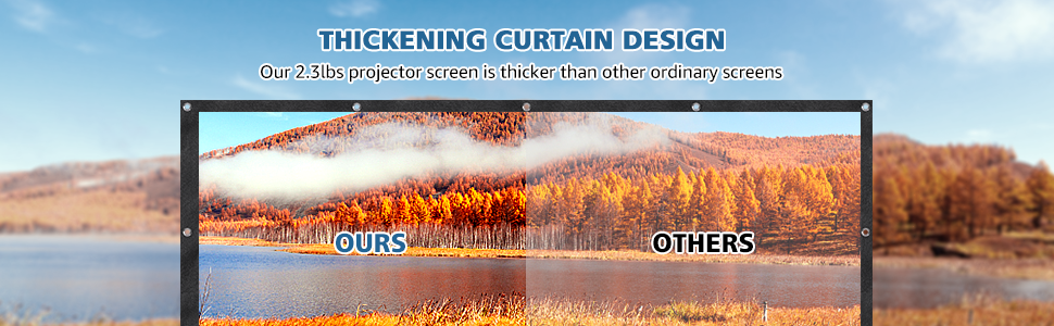 THICKENING CURTAIN DESIGN