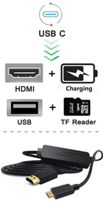 usb c hdmi cable dex cord