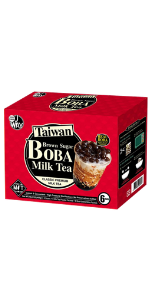 Bubble Tea Kit with Milk Tea Brown Sugar Boba