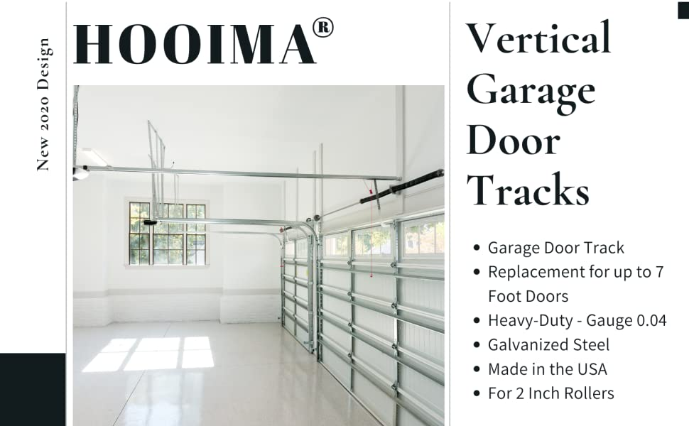 Amazon Com Garage Door Vertical Track Replacement Set Of Left And Right For 7 Foot Tall Garage Door Rails Galvanized Steel Hardware Door Rails For Residential Light Commercial Side Tracks For 2 Inch